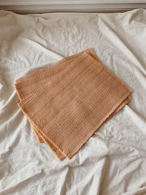 Peach Woven Placemats