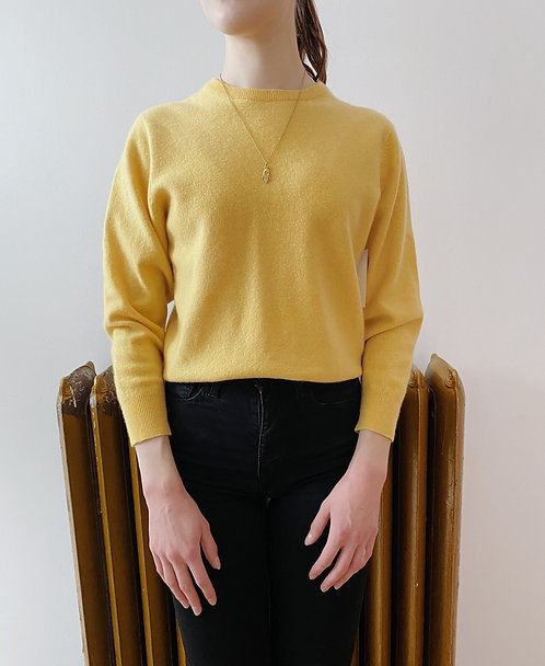 Lemon Cashmere Sweater | S