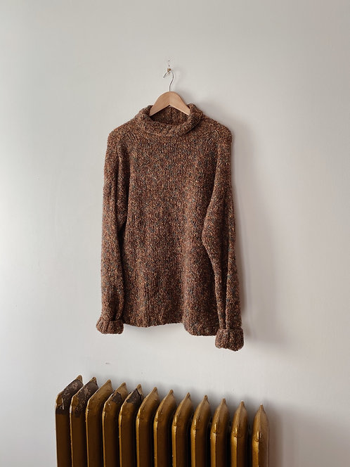 Alfred Sung Marled Turtleneck Sweater | XL