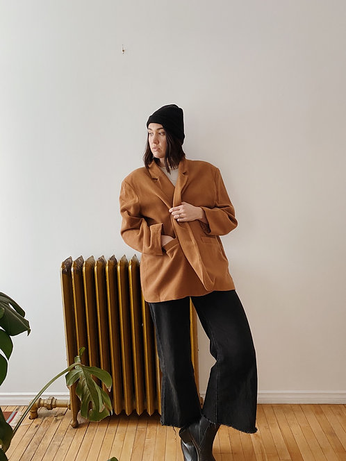 Caramel Wool Coat | XXL