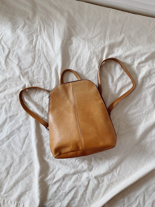 Chestnut Leather Backpack
