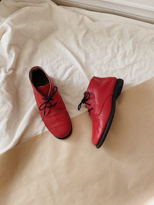 Red Leather Desert Boot | 7