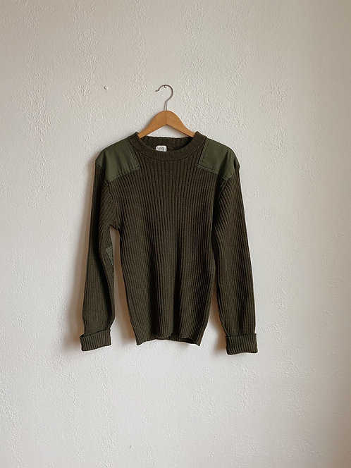 Olive Green Army Sweater | M