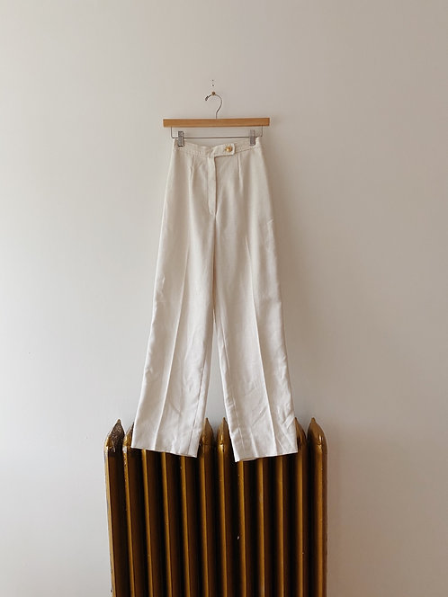 White Straight Legged Trousers | 24