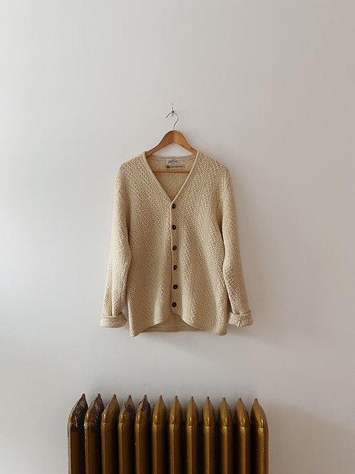 Cream Wool Cardigan | M/L