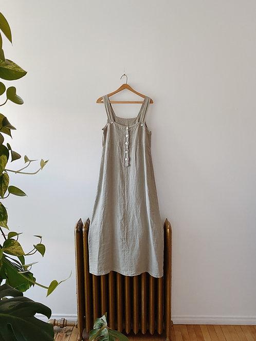 Sage Linen Dress | L