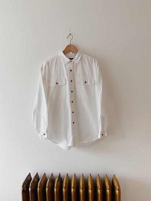 White Eddie Bauer Button Up | M/L