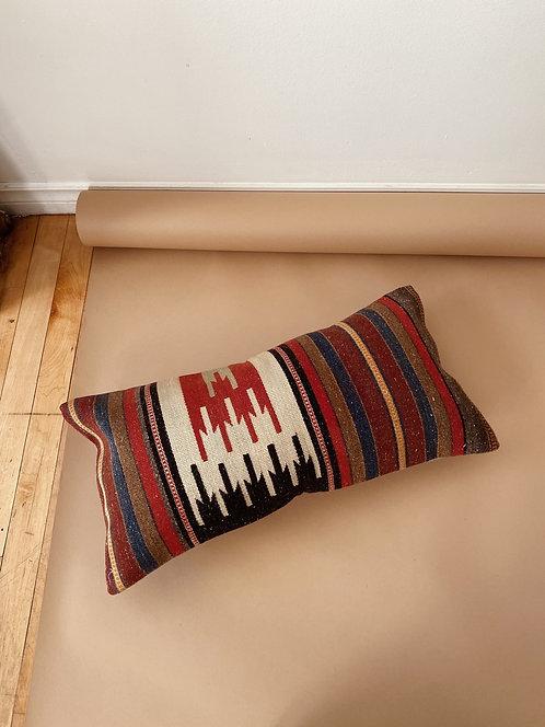 Striped Wool Kilim Pillow | 23 x 12