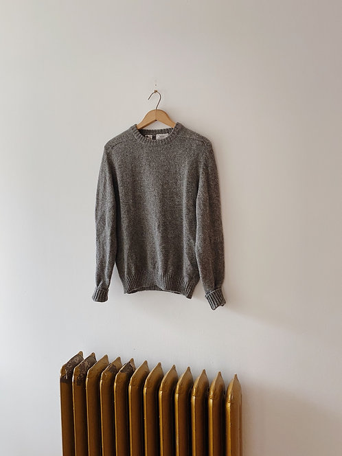 Grey Wool Sweater | M