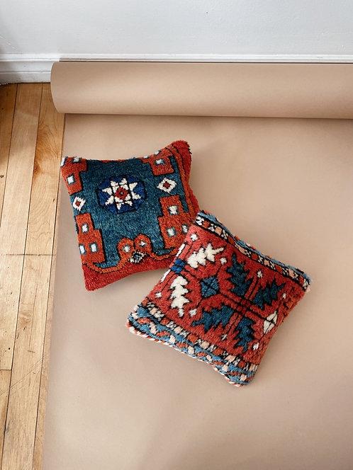 Red & Blue Kilim Pillow   10 x 10