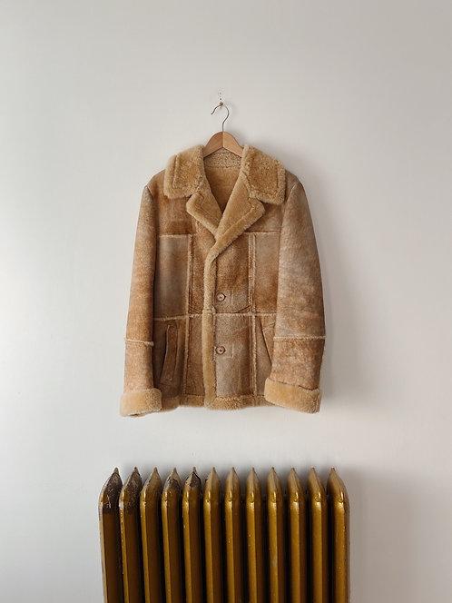 Tan Suede Sherpa Jacket | L