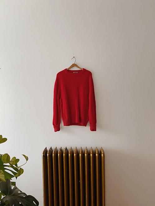 Cranberry Wool Sweater | L