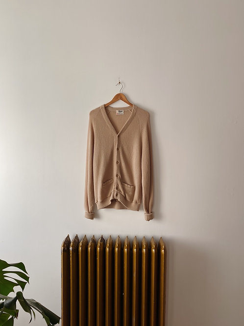 Oatmeal Knit Cardigan | XL