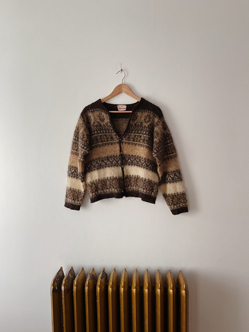 Wool & Mohair Cardigan   S