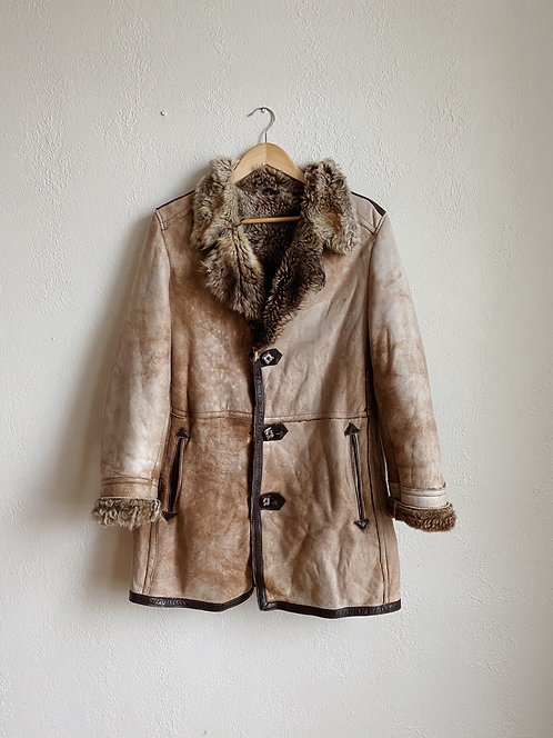 Tan Sheepskin Jacket | M