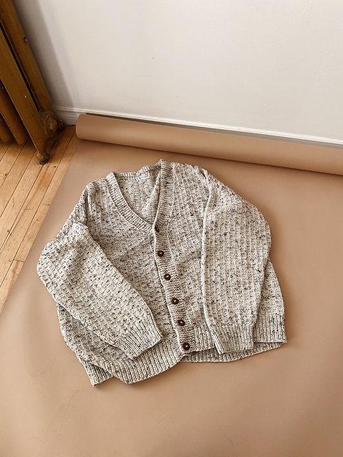 Marled Hand Knit Cardigan | 2XL