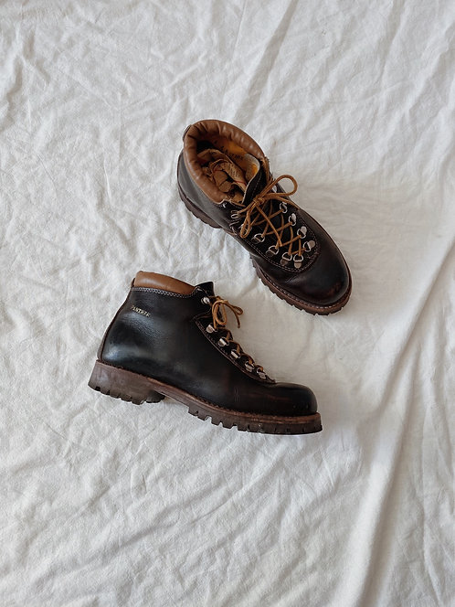 Brown Leather Hiking Boots   9