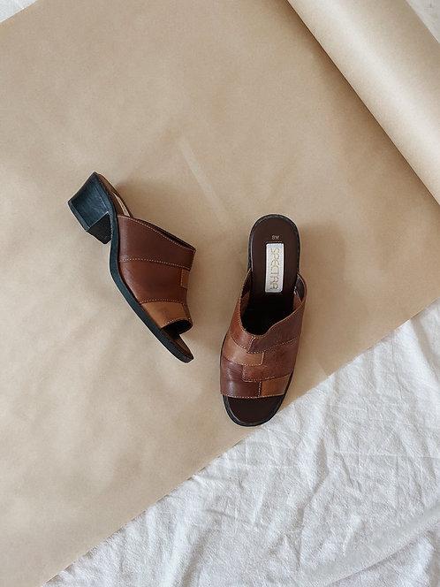 Patchwork Leather Slides   7