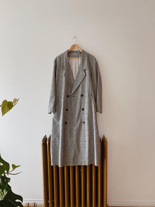 Black & White Micro Houndstooth Jacket | XL