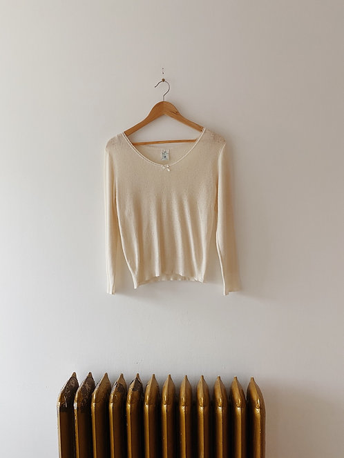 Cream Wool Thermal   S/M