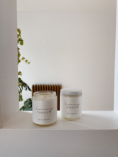 Picot Collective Honey Tobacco Soy Candle