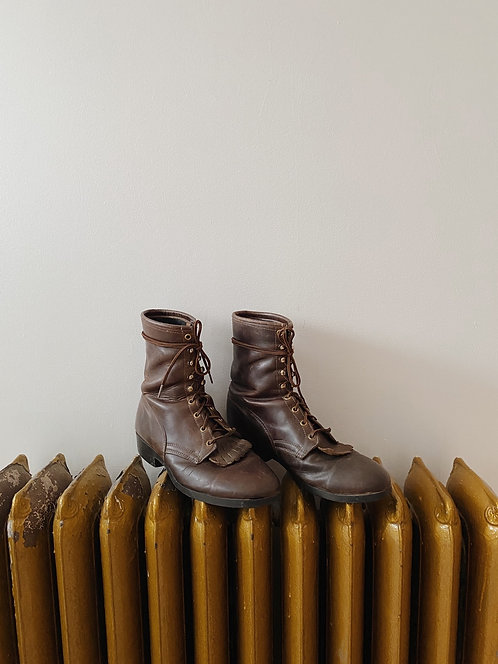 Brown Leather Roper Boot   11