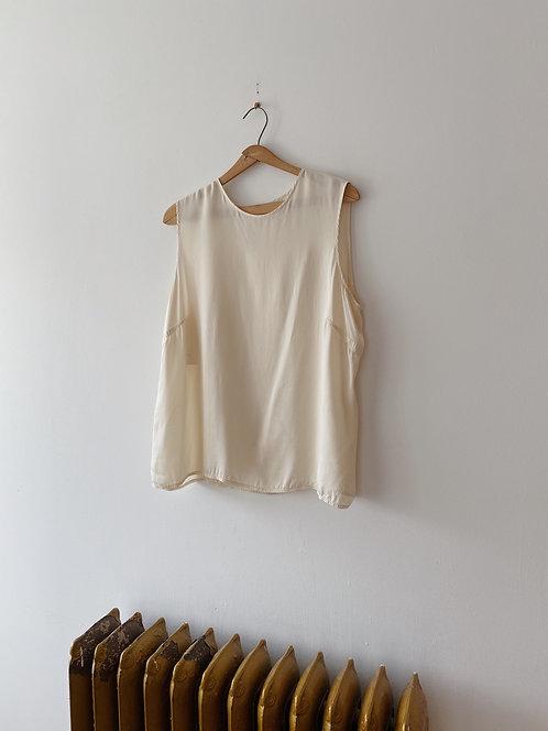 Cream Silk Tank | XL