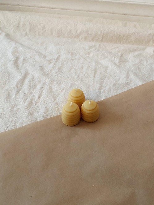 Beeswax Small Beehive Candle