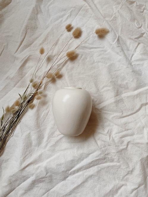 Eggshell Glazed Ceramic Vase
