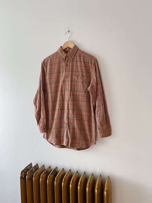 Plaid Corduroy Button Up | M