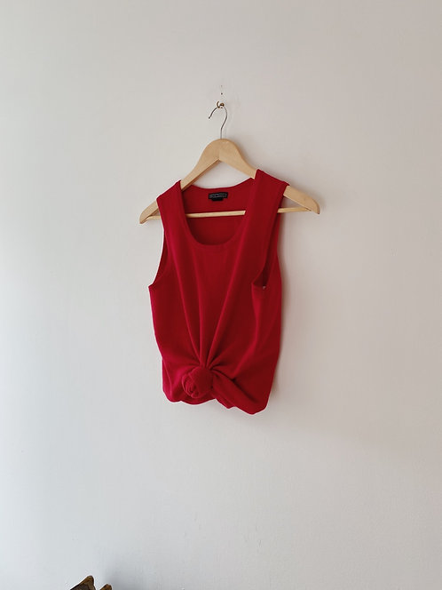 Cherry Cashmere Sleeveless Top | S