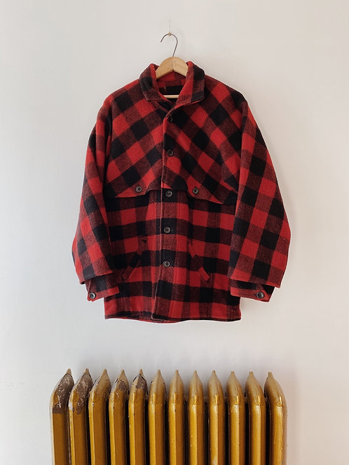 Plaid Wool Flison Jacket | L