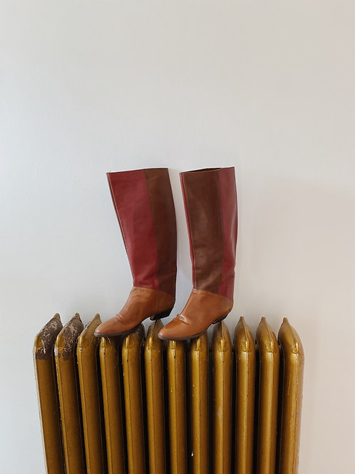 Leather Knee High Boots | 7.5