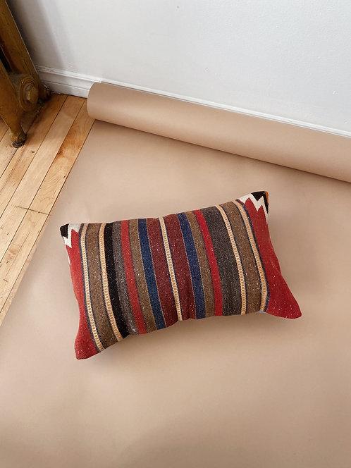Striped Wool Kilim Pillow | 19 x 12