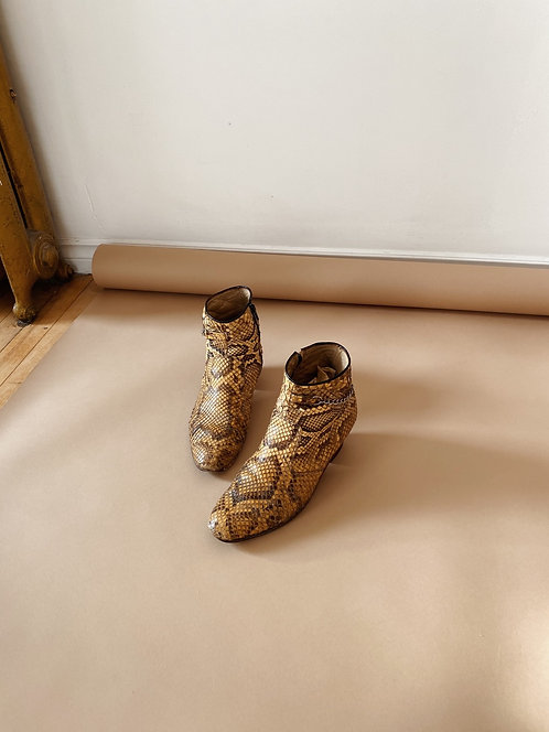 Snakeskin Ankle Boots | 10