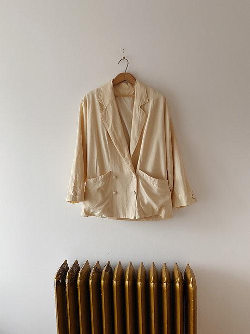 Buttercream Silk Blazer   L