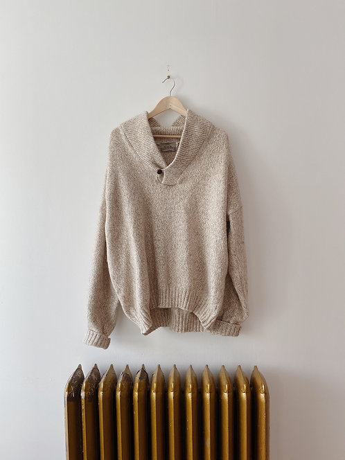 Oatmeal Pullover Sweater   XXL