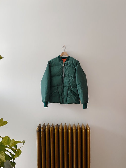 Forest Green Puffer Jacket | S/M