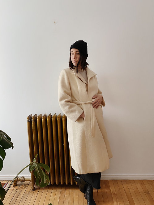 Cream Wool Jacket | M