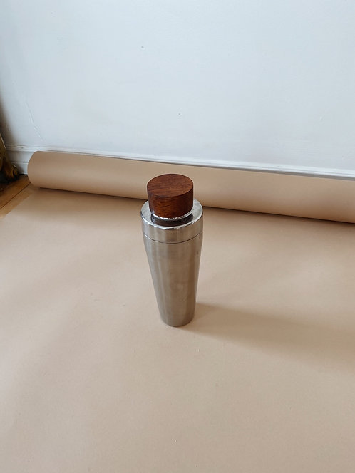 Teak & Stainless Steel Cocktail Shaker