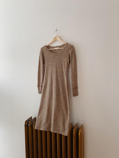 Alpaca Wool Sparkle Knit Dress | S