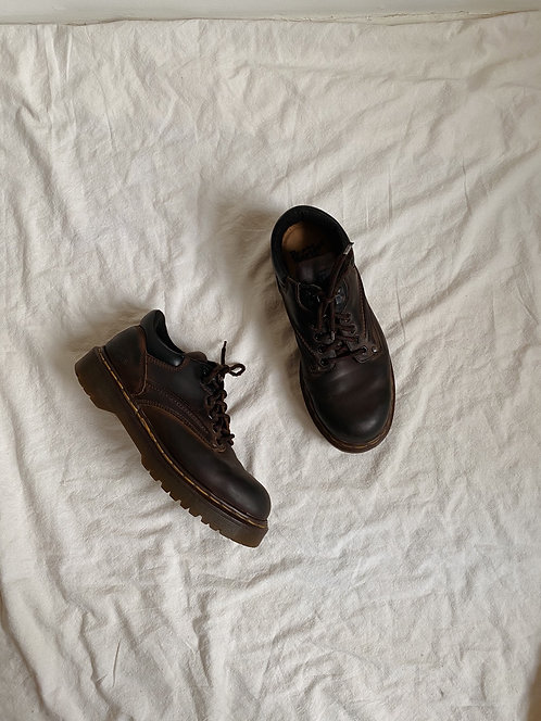 Brown Leather Doc Marten Oxford Boot   10M