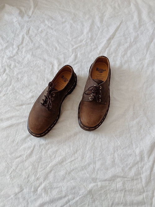 Brown Leather Doc Marten Oxfords | 6.5