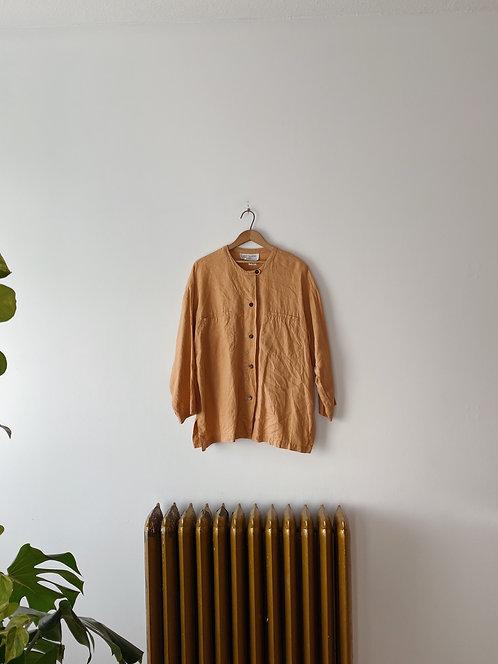 Peach Linen Button Up | XL