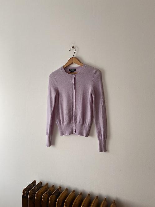 Lilac Cashmere Cardigan | XS