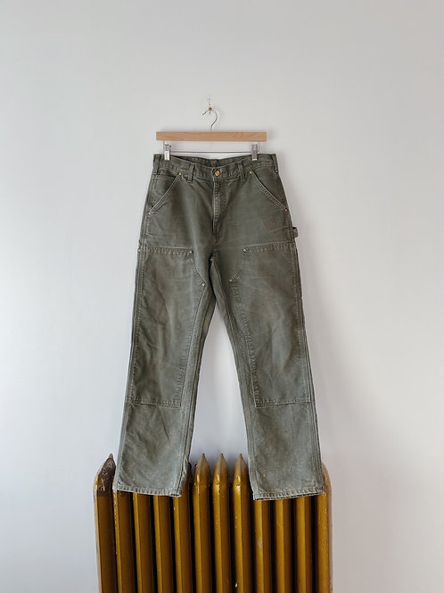 Olive Double Knee Carhartt Work Pants | 32
