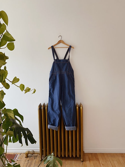 Dusty Blue Denim Overalls | S