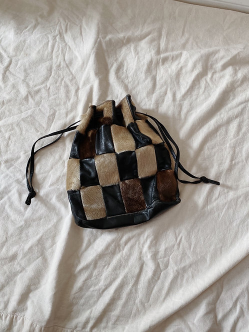 Patchwork Leather & Seal Bag