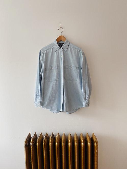Light Wash Denim Button Up | M/L