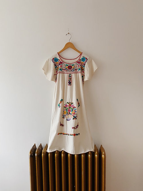 Embroidered Floral Dress | S/M